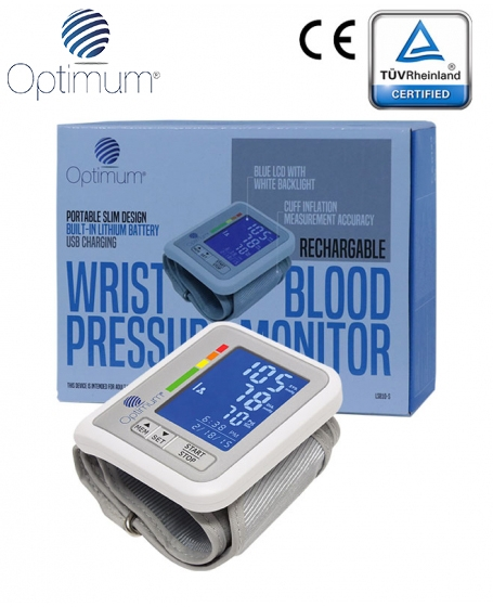 Optimum Rechargeable Wrist Blood Pressure Monitor (iNIBP)