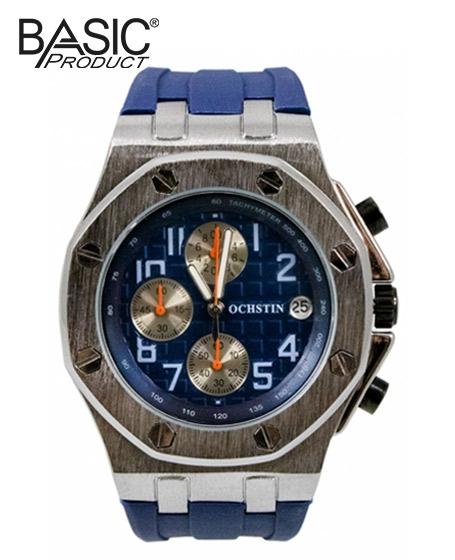 Basic Ochstin Chronograph Watch <b>Silver & Blue</b>