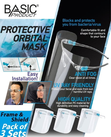 Basic Protective Orbital Mask (1pack @ 3pcs)