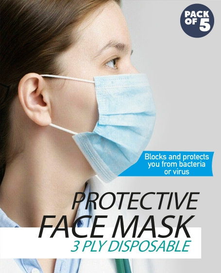 Optimum Protective Face Mask (1pack @ 5pcs)