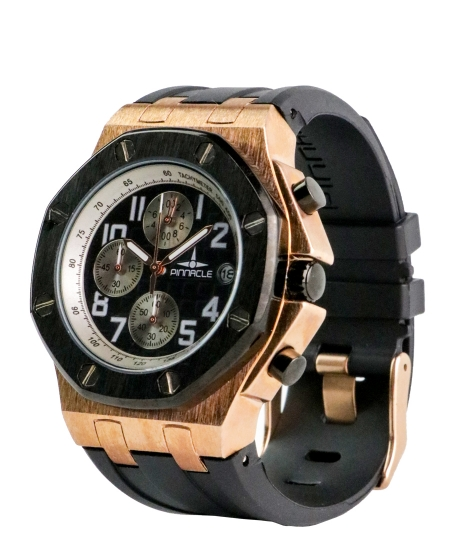 Basic Pinnacle Salute Watch <b>Rose Gold & Black</b>