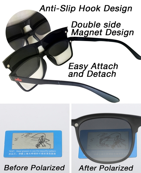 Basic Govean Interchangeable Polarized 5 in 1 Sunglasses <b>Yellow</b>