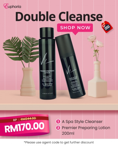 Vie Double Cleanse (1pc-<b>A Spa Cleansing</b>+1pc-<b>Premier Preparing Lotion 200ml</b>)
