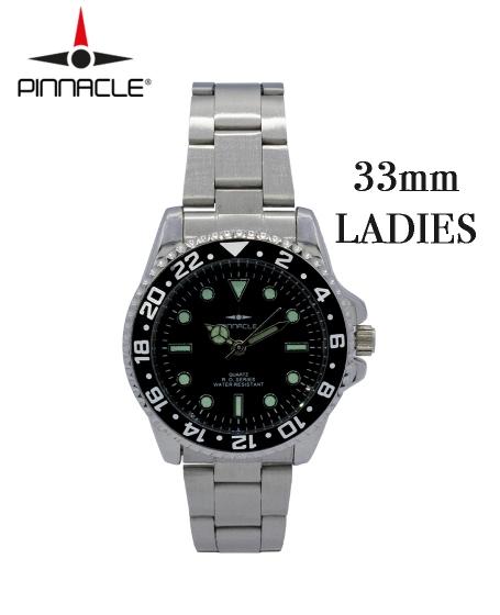 Pinnacle<br/>RO Series Watch<b> Ladies <br/>Black 33mm</b>