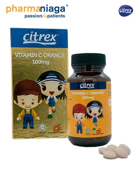 Citrex<br/>Vitamin C <b>Orange<br/>  100mg 90's</b>