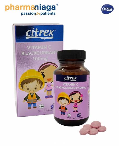 Citrex <br/> Vitamin C <b>Blackcurrant <br/>100mg 90's</b>